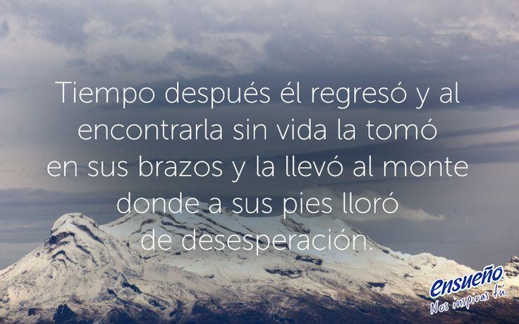 Su corazón arderá como una flama por siempre. ❤️ #LeyendasMexicanas #Leyenda #Popocatépetl #Iztaccíhuatl #amor #historiadeamor #Volcanes