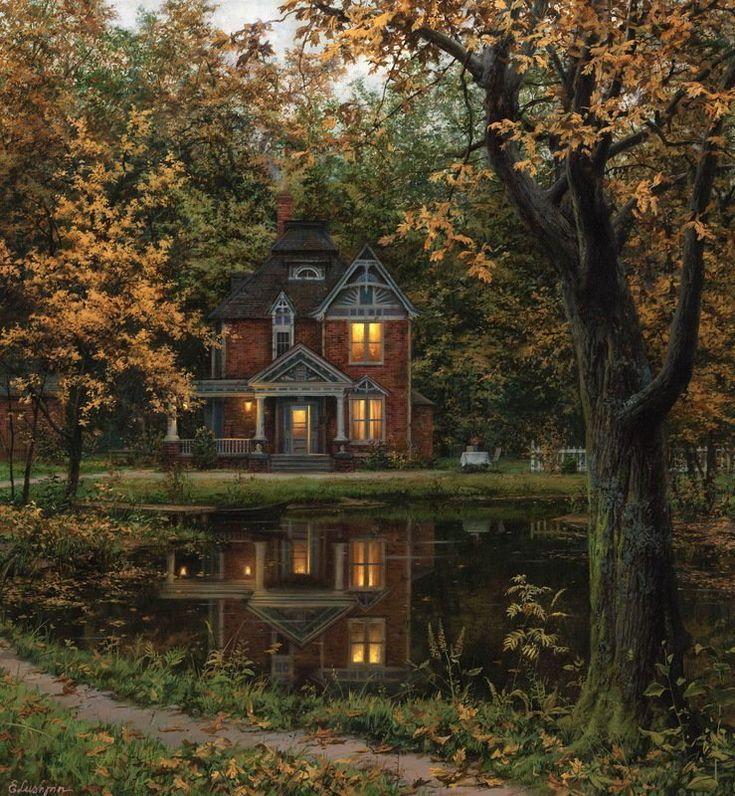 Der Heimweg. Das schöne Haus an der Sackgasse, da…