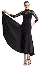 女性のための社交ダンスウェアレーヨン、チュールモダンダンスドレス – JPY ¥ 5,885