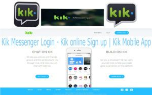 Kik Messenger Login - Kik online Sign up | Kik Mobile App