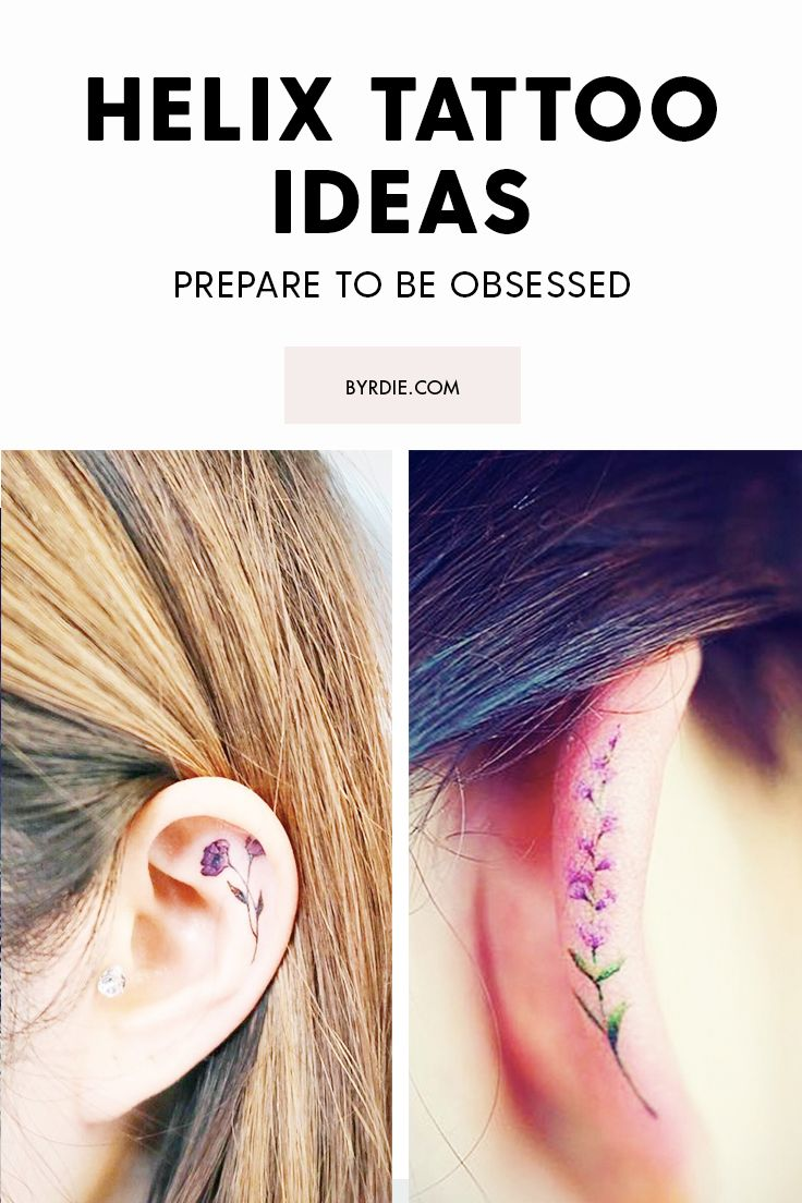The best Helix tattoo ideas as picked by Spanish super-blogger @Hey Mercedes