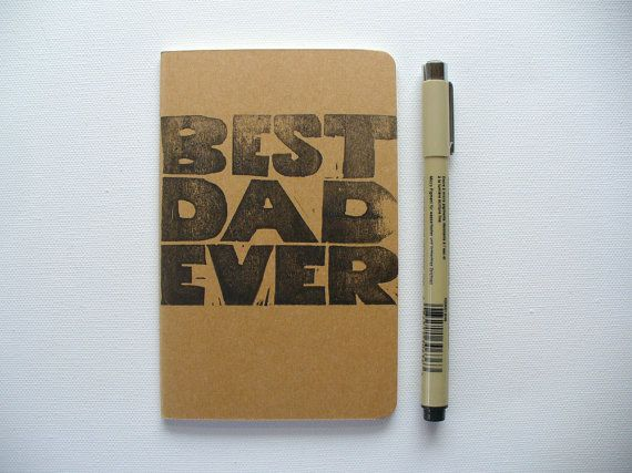 moleskine notebook  best dad ever fathers day by MessyBedStudio, $12.00 #father'sday #fathersdaygift #dad #father