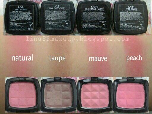 Swatch NYX powder blush