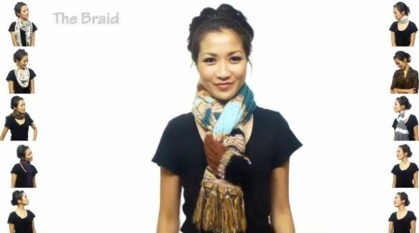 I have never seen so many different ways to tie a scarf. Click the picture & there are 35 different tutorials.
