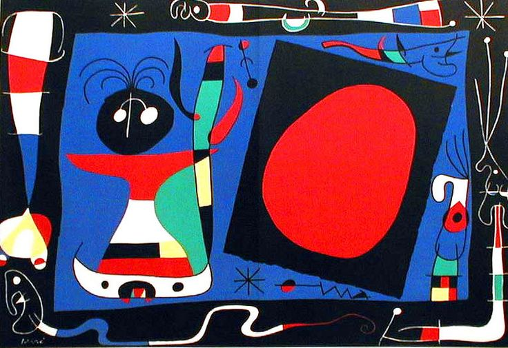 Joan Miró, 'Woman in Front of a Mirror', 1956