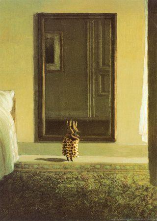 Kanin som klär på sig, Bunny Dressing - Affischer av Michael Sowa på AllPosters.se