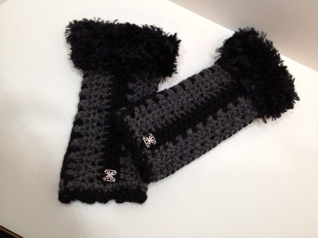 Kats Hats Fingerless Gloves with Genuine Swarovski Crystal Elements