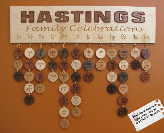 Custom Family Name Celebration Board  Family by RCOriginalsGallery