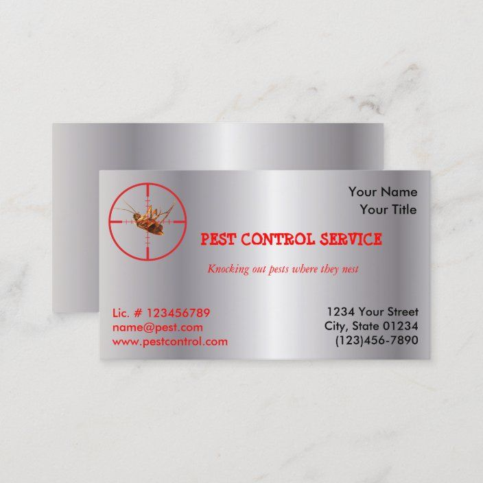 Silver Dead Roach Pest Service 1 Sided V2 Business Card Zazzle Com Striped Business Card Custom Business Cards Pests