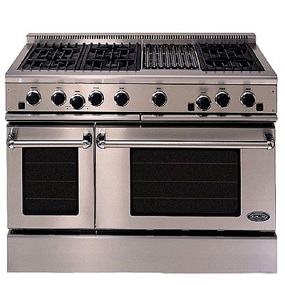 i will one day have a stove like this..it even has a grill in it,how awesome <3