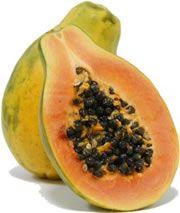 Rawfood ontbijt met papaya, avocado, vijgen en nog meer lekkers :)