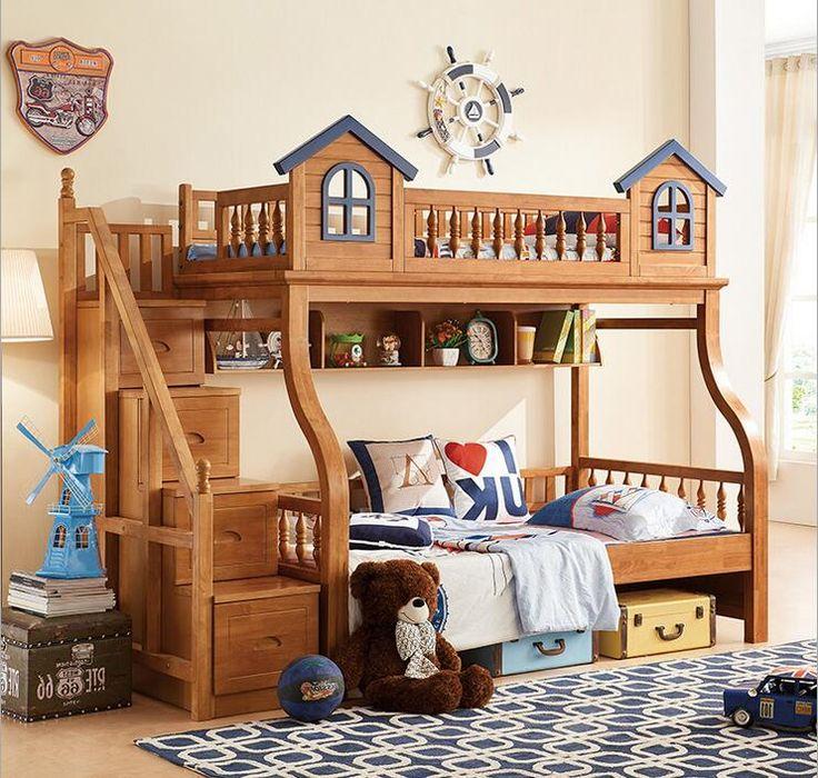 ロフトベッド- Aliexpress.com経由、中国 ロフトベッド 供給者からの ... 子供ベッド用男の子と女の子寝室家具城二段ベッド子供の双子ダブルシングルロフトベッド