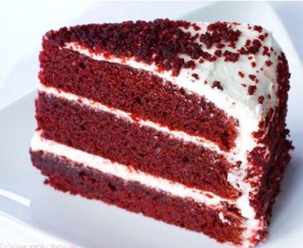 Beet Colored Red Velvet Cake