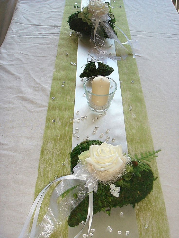 Tischdekoration für ca. 60-80 Pers. grün zur Hochzeit Tischdeko TD0013: Amazon.de: Küche & Haushalt