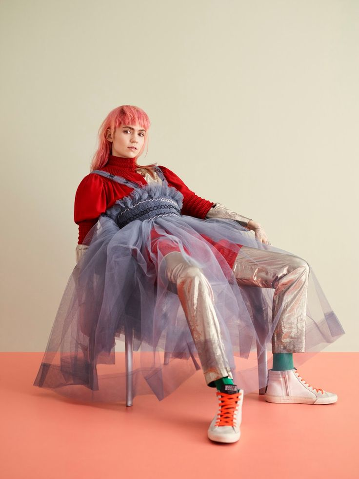 EDITORIAL+COVER: Grimes in Teen Vogue April 2016 by Ben Toms - Grime's Time - Musician Claire Boucher aka Grimes is interviewed by Stella McCartney for the April issue of Teen Vogue, in eclectic mix of looks Grimes wears the likes of J.W. Anderson, Fendi, Paco Rabanne  & Simone Rocha, styled together by Delphine Danhier with photography by Ben Toms. Hair by Tina Outen, Make-Up by Benjamin Puckey.