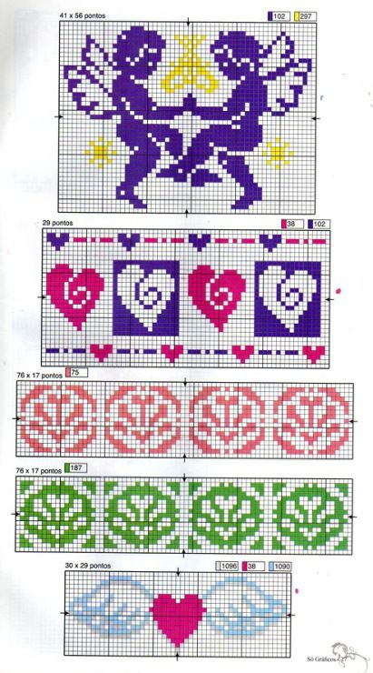 Borders and cherubs and such! This chart is a multi functional craft pattern. Uses include : cross stitch, crochet, knitting motifs, knotting, loom beading, Perler beading, weaving and tapestry design, pixel art, micro macrame, friendship bracelets, and anything involving the use of a charted pattern.