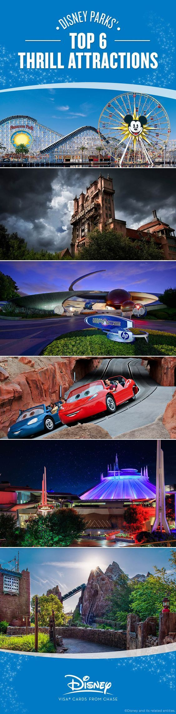 Bold enough to ride one of Walt Disney World® or the Disneyland® Resort's top thrilling Park attractions? Check out our favorites, plus tips and tricks to maximize the screaming – err, fun – of each experience.
