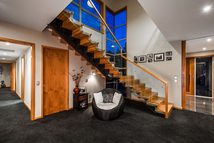 A wood stair designed by Peter Davis from AD Architecture #ADNZ #architecture #stairs