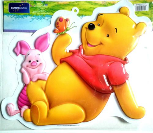 Winnie the Pooh and Piglet 3D Wall Decorations Great for childrens Room