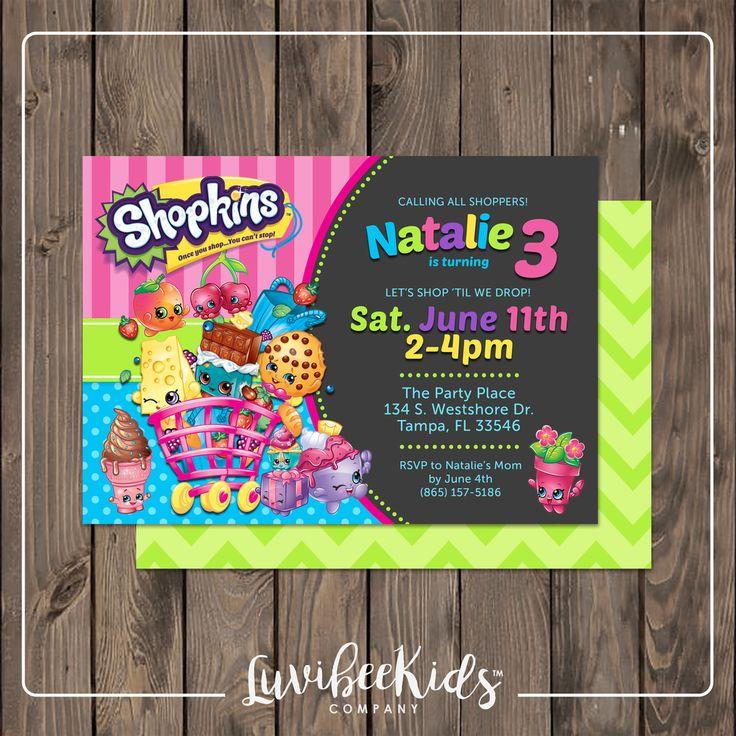 Shopkins Invitation | Printable Birthday Invitation
