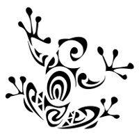 Polynesian frog fertility tattoo