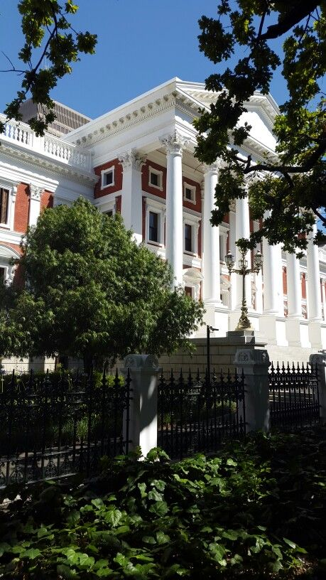 Street view of the Old Assembly Building, Parliament of the Republic of South Africa, Cape Town