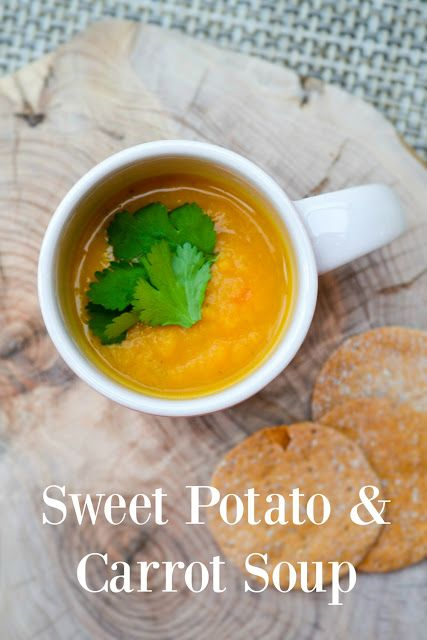 Lightly Spiced Sweet Potato and Carrot Soup - A creamy soup with the sweetness of sweet potatoes and carrots, balanced with the warmth of spices. Easy to make, nutritious and tasty. #soup #vegansoup #fallsoup #sweetpotatoes #carrot #sweetpotatosoup #vegan