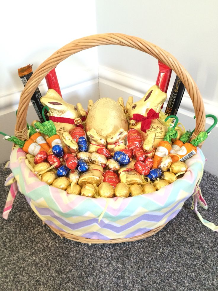 71 best lindt sweets images on pinterest basket chocolate candies lindt easter basket negle Gallery
