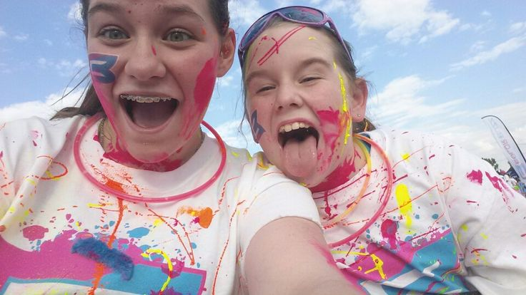 5k color run columbus! With my sister