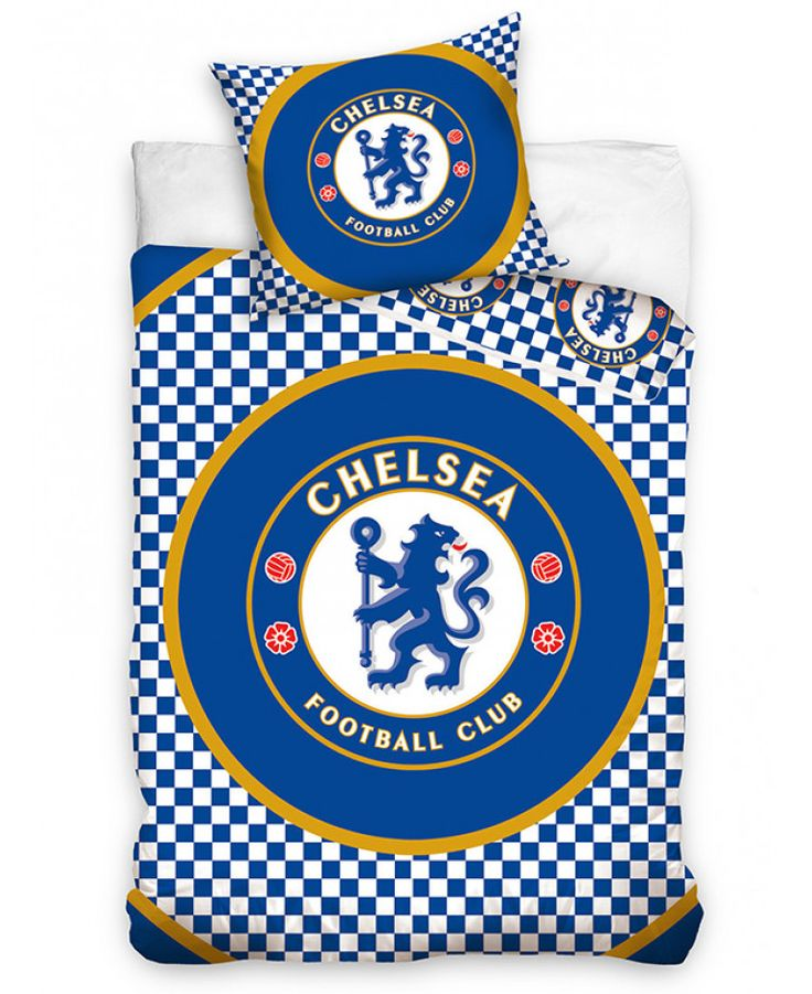 This Chelsea FC Checked Single Cotton Duvet Cover Set features the iconic club crest and is reversible too. Free UK delivery available