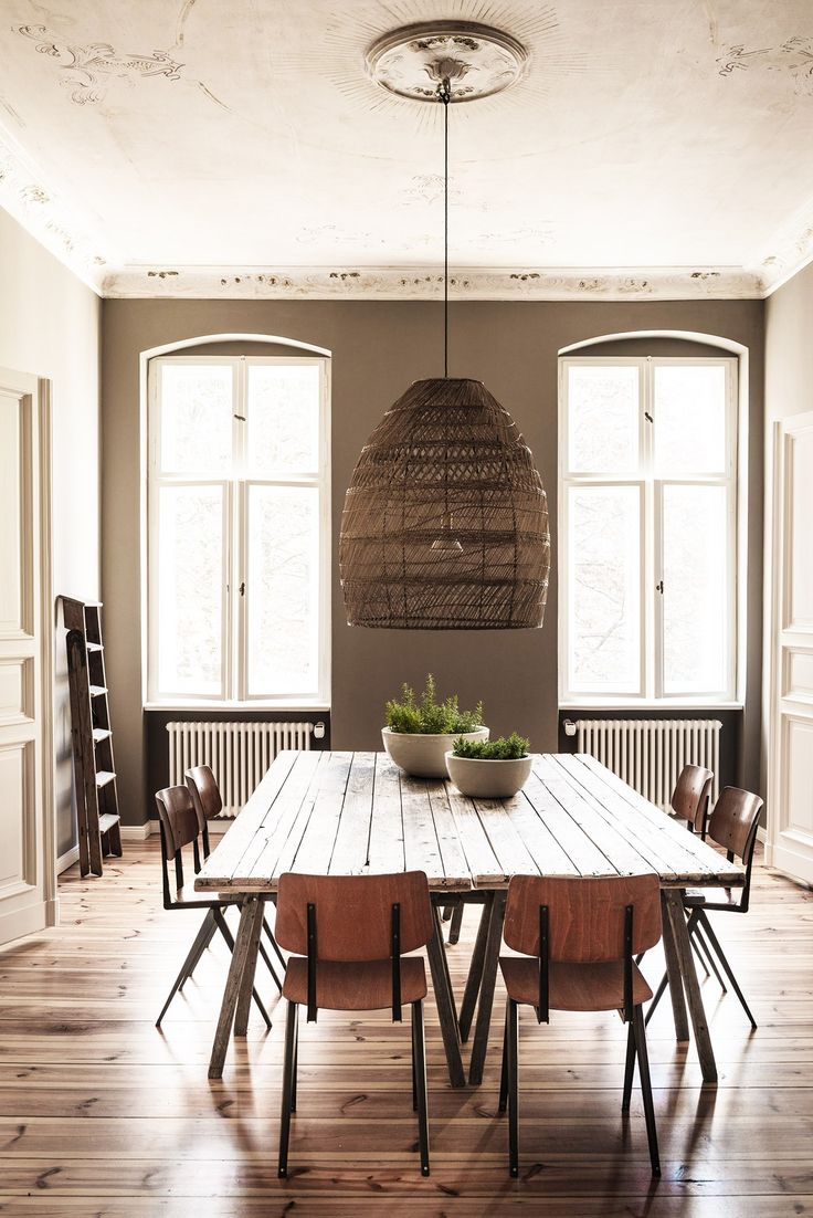Light collaborating with wooden materials in the living dinning room - Inside A Stylist S Beautiful Berlin Apartment Decorating Living Roomskitchen