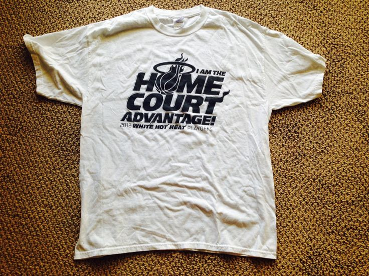 "#Miami Heat ""i Am The Home Court Advantage"" 2012 White Heat Playoffs T-shirt Xl from $9.0"