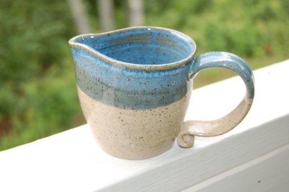 Handmade Pottery Beach House Pitcher by CenterHillClayWorks, $18.00