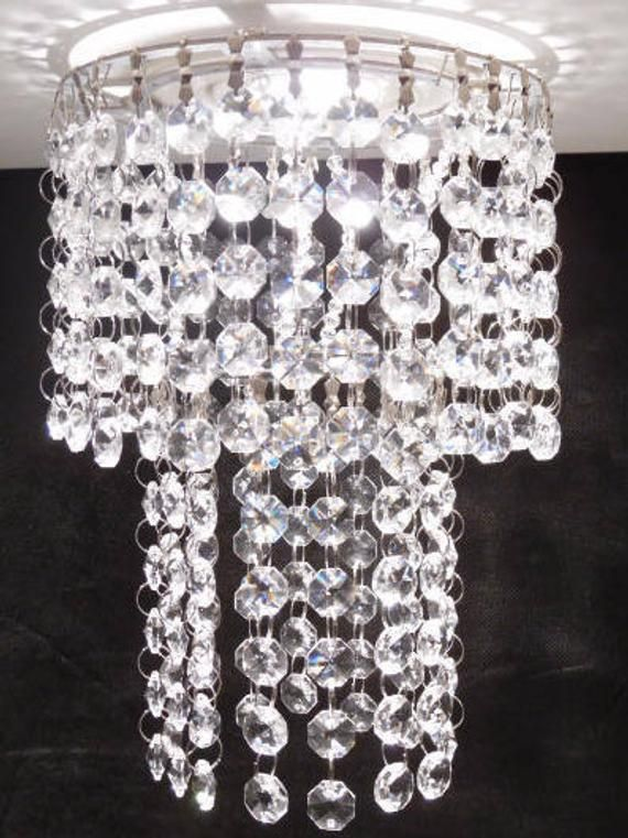 Luxe Crystal Fixtures Recessed Light Or Pot Light Mini Chandelier Clip On By Magnet In Acrylic Or Crystal Aspen Model With Images Recessed Lighting Pot Lights Mini Chandelier