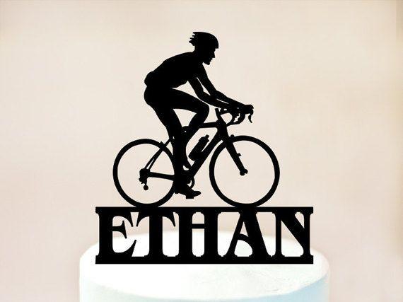 Bike Cake Topper,Mountain Biking Cake Topper,bicycle Cake Topper,Personalised Cake Topper,Bike Birthday Party,bicycle Decoration (1053)