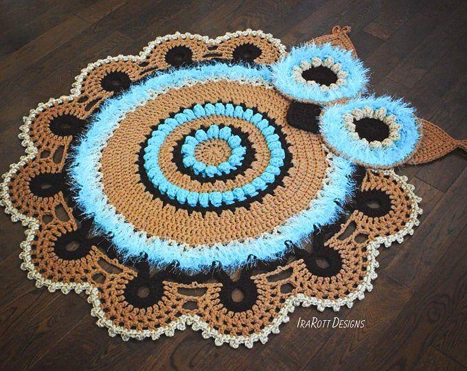Crochet Pattern Spiky The Stegosaurus Dinosaur Rug Nursery Mat Etsy Crochet Rug Patterns Owl Rug Rug Pattern