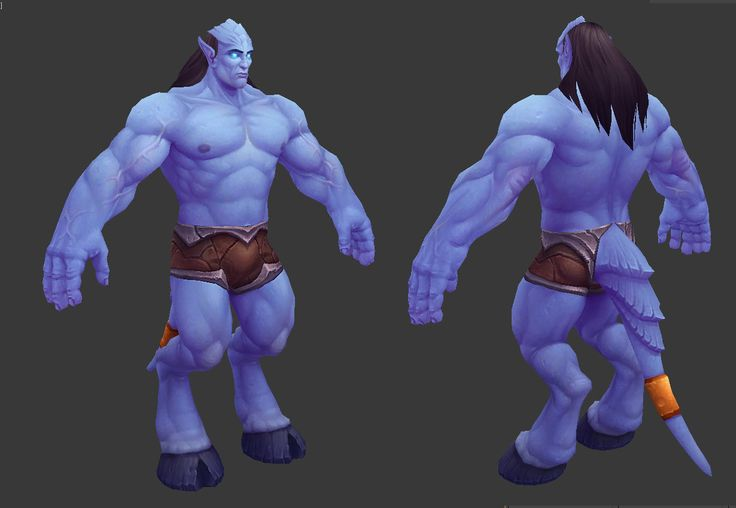 Draenei Male, Dusty Nolting on ArtStation at https://artstation.com/artwork/draenei-male