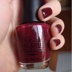 This is my all time fav nail color :) deep burgandy red...