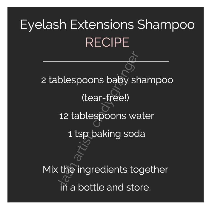 eyelash extensions care lash shampoo recipe Nail Design, Nail Art, Nail Salon, Irvine, Newport Beach