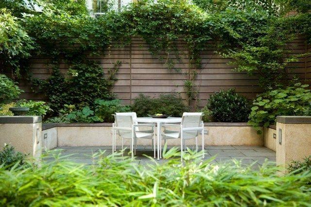 #Garten #Gestaltung #Hinterhof #hoher #Ideen #Sichtsch