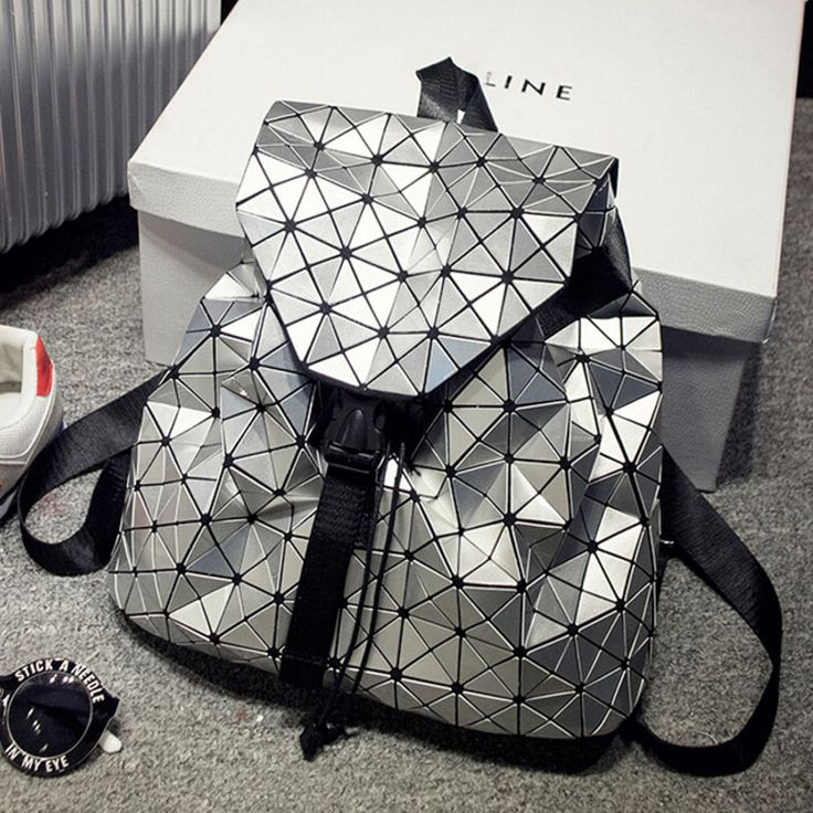 2016 BaoBao backpack feminine geometric patchwork sequin plaid female backpacks for teenage girls bagpack drawstring bag mochila #CLICK! #clothing, #shoes, #jewelry, #women, #men, #hats, #watches