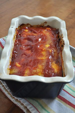 Chicken Meatloaf...comfort food without being too heavy. The cubes of cheddar cheese melt into the meatloaf for oozing cheesy deliciousness!