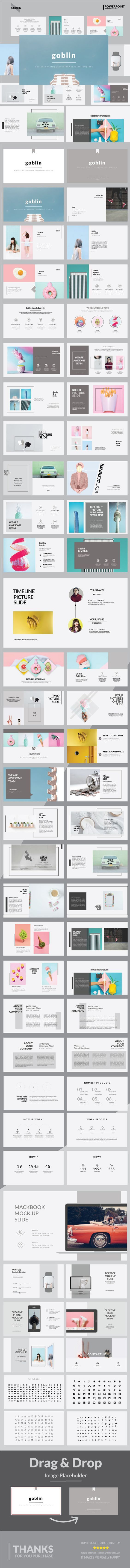 Poster design in powerpoint - Goblin Multipurpose Powerpoint Template