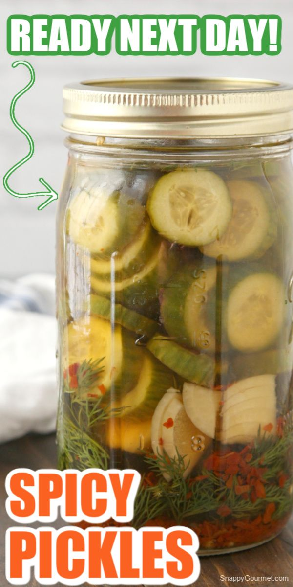Spicy Pickles Snappygourmet Com Pickle Recipes Homemade Spicy Pickles Pickling Recipes