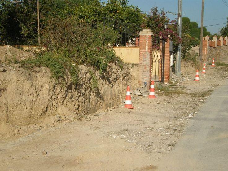 #Acondicionamiento de vallado a causa de la riada ocurrida en 2009. (Antes).