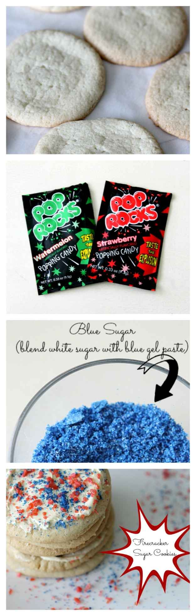 Sprinkle Pop Rocks on cookies to make them into edible firecrackers.