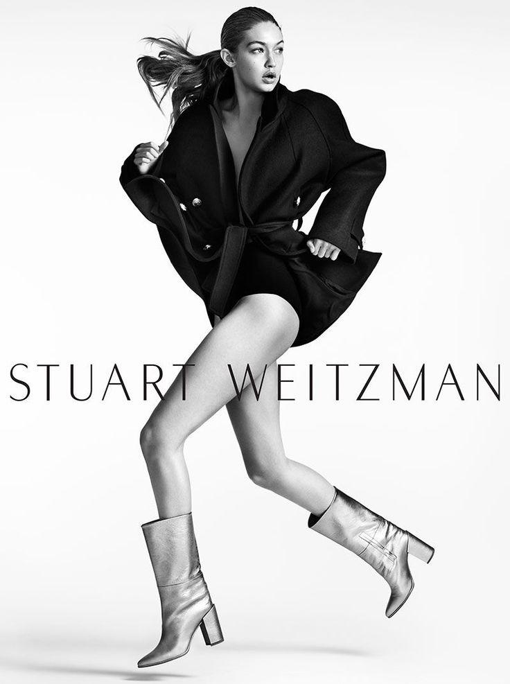 Gigi Hadid stars in Stuart Weitzman fall-winter 2016 campaign