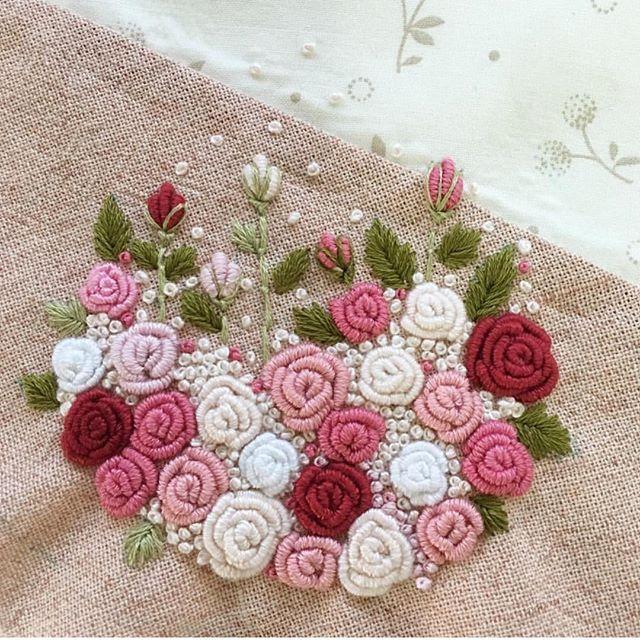 #amazing #embroideryart #embroideryart #embroideryhoop #embroideryroses#güller#nakis#hobbycraft #frenchknots #