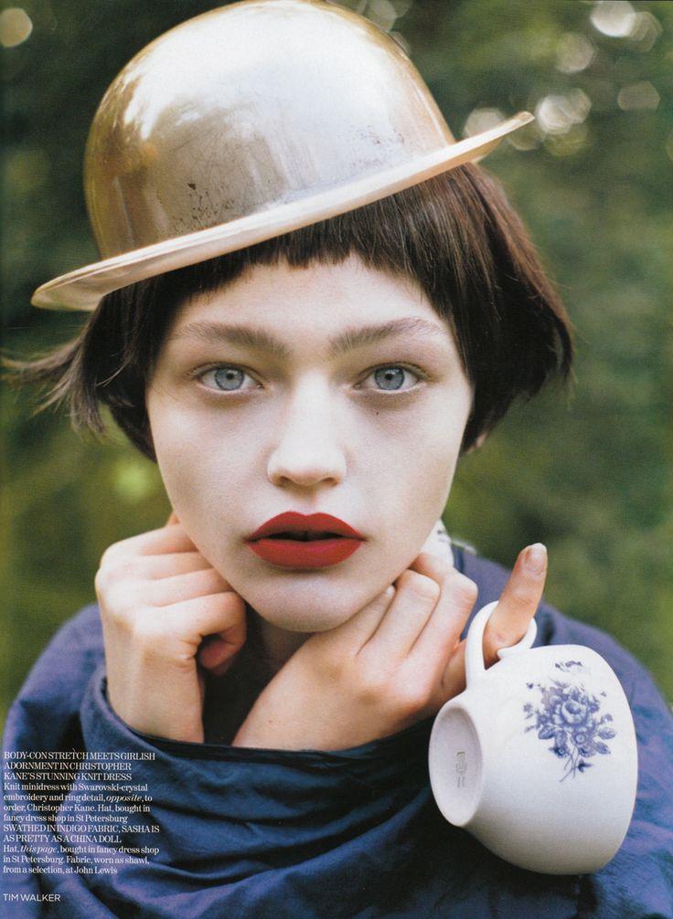 Fringe    Magazine: Vogue UK  Issue: January 2007  Title: White Nights  Photographer: Tim Walker  Model: Sasha Pivovarova