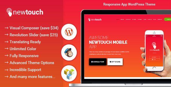 Newtouch - Responsive App WordPress Theme